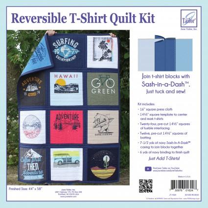 Reversible T-Shirt Quilt Kit  Navy Sashing    Just Add T-Shirt!