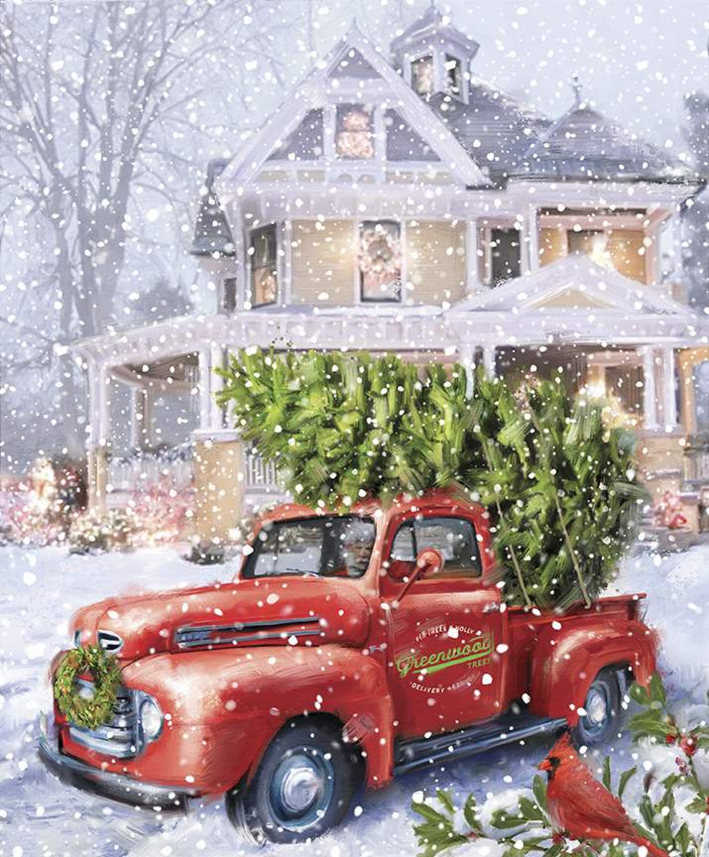 """Christmastime is Here  36"""" x 43.5""""   Panel  Christmas Delivery"""