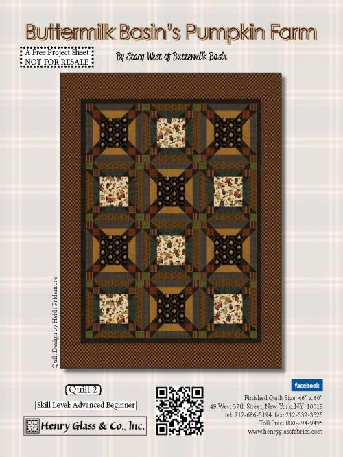 Pumpkin Farm Quilt 2 Pattern. - FREE Download