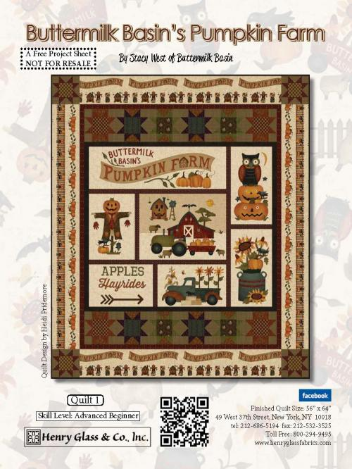 Pumpkin Farm Quilt 1 Pattern. - FREE Download