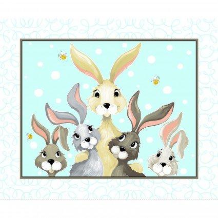 "Harold The Hare   36"" Play Mat Panel      Aqua"