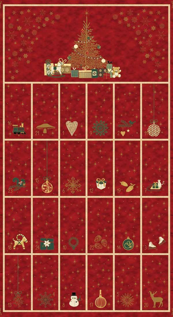 """Christmas is Near     Advent Calendar Panel   24"""" x 42"""""""