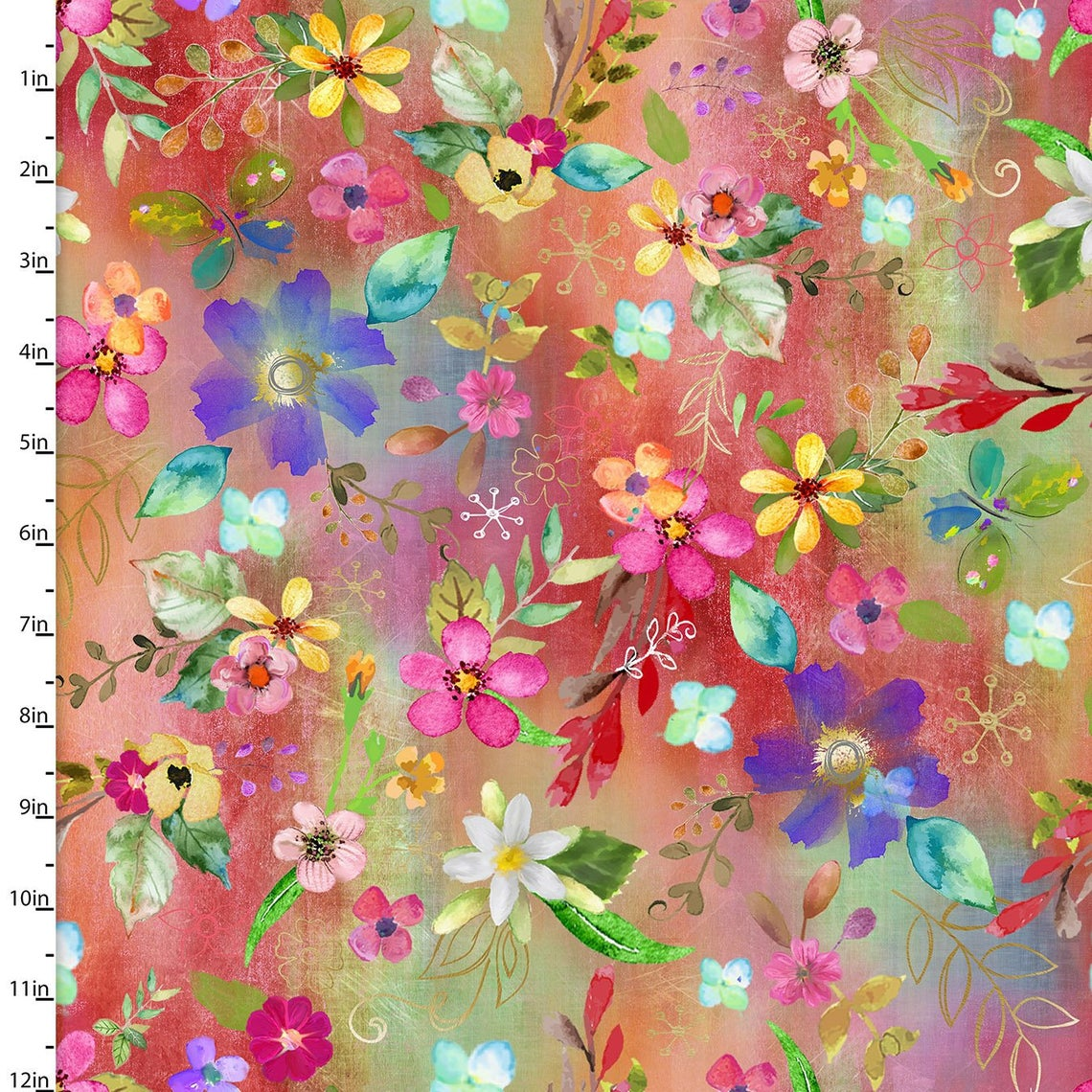 Party Animals Digital Print    Allover Floral