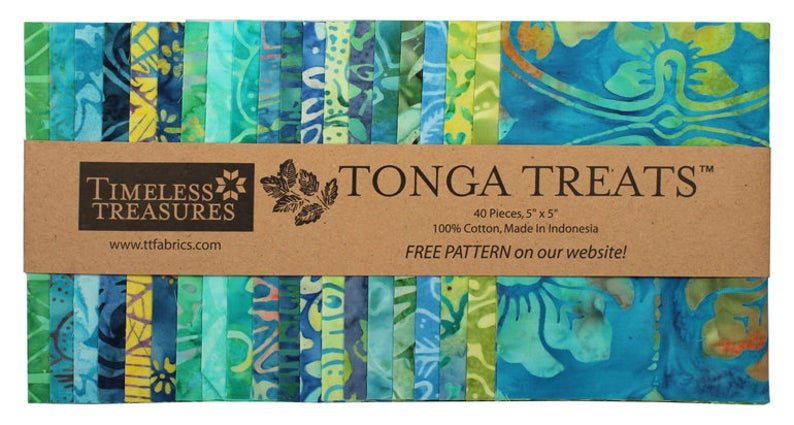 "Tonga Treats Mini 5"" Precuts  (40) Grasshopper"