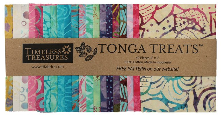 "Tonga Treats Mini 5"" Precuts  (40)  Aruba"